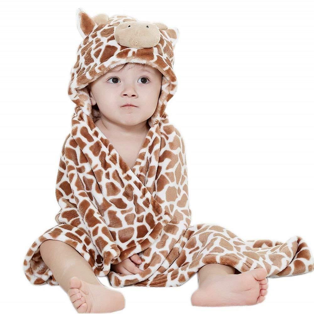 Hotmall Manta De Beb/é Con Capucha Toalla de Ba/ño Infantil de Lana Swaddle Wrap Animal Dibujos Animados Albornoz Suave y Caliente para Ba/ño Ducha