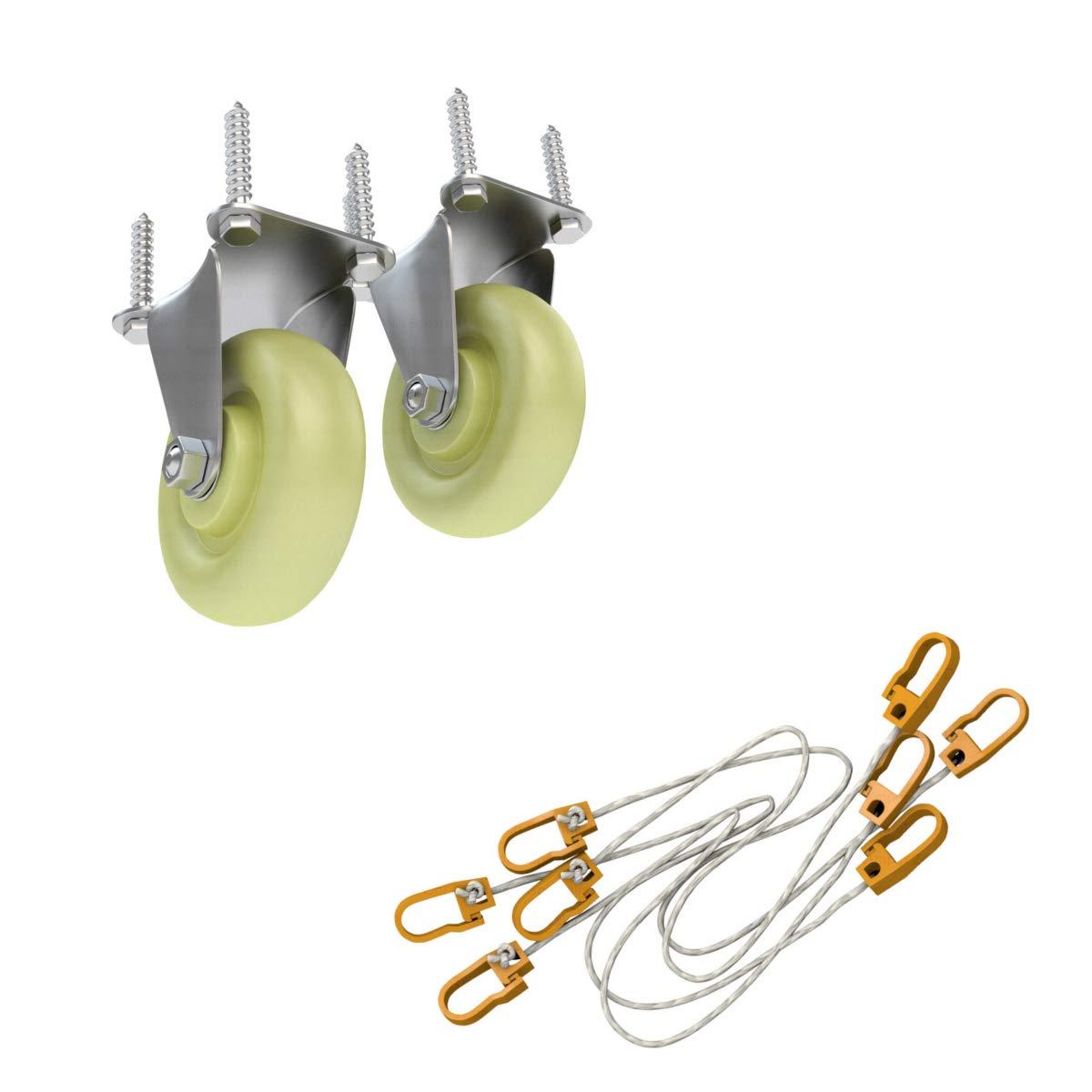 Kit pour hamac en bois: Tige et de sécurité de hamac pour einfacheren Retirer & Roulements à billes Roulettes de transport pour faciliter le déplacement Ampel 24