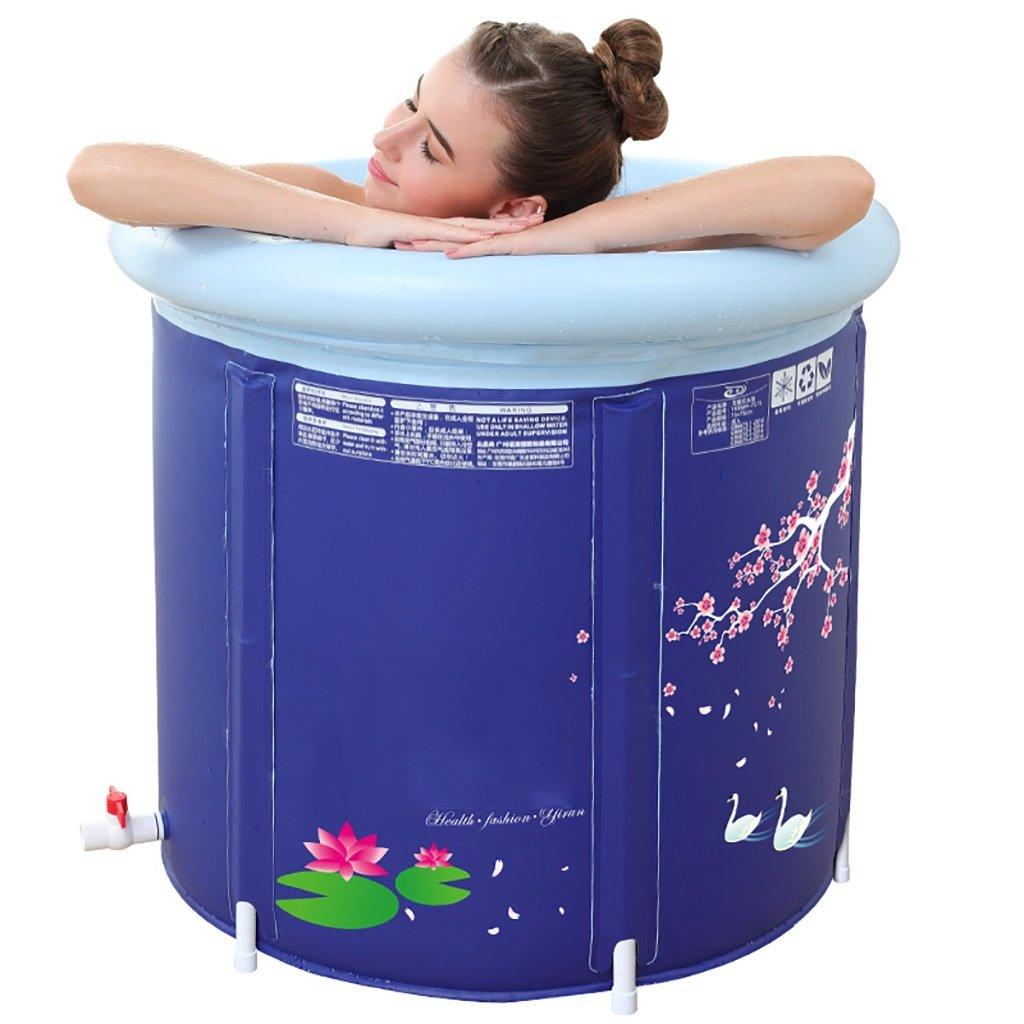 PM YuGang Foldable Inflatable Thick Warm Adults Bathtub, Children Inflatable Pool Bath Tub, Blue