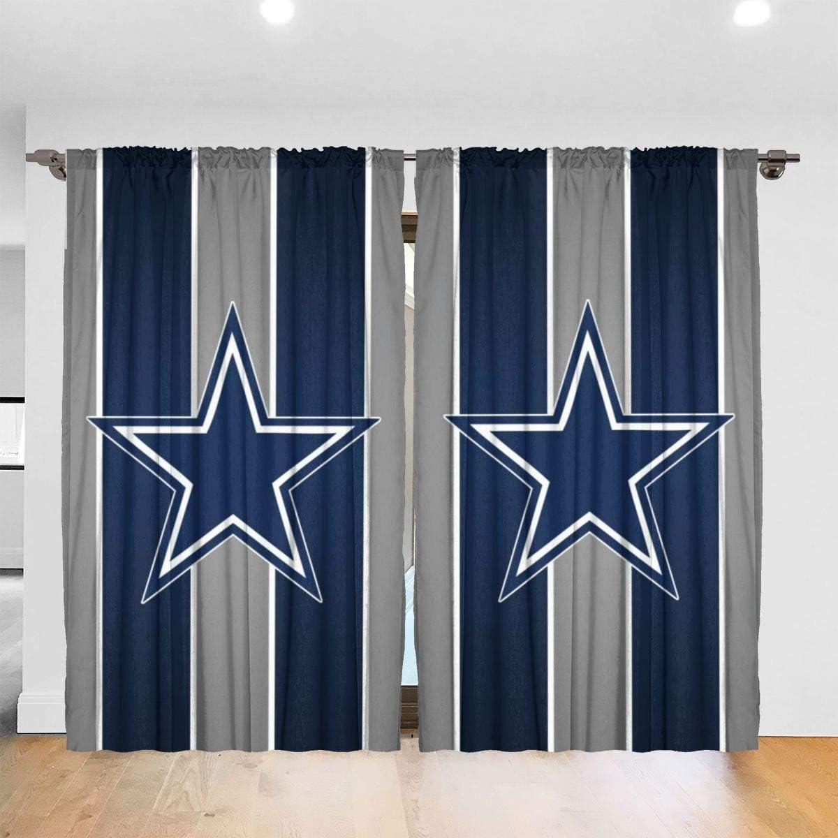 RWNFA Blue Star Stripes Blackout Curtains 48