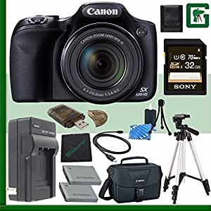 Canon PowerShot SX530 HS Digital Camera + 32GB Green's Camera Bundle 6
