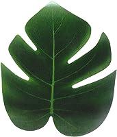 millet16zjh 12Pcs Artificial Leaf Tropical Palm Leaves Home Garden Decor S