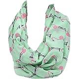 Ularmo Damen Herbst Winter Frühling Flamingos Muster gedruckten Voile Schal, 90cm*180cm