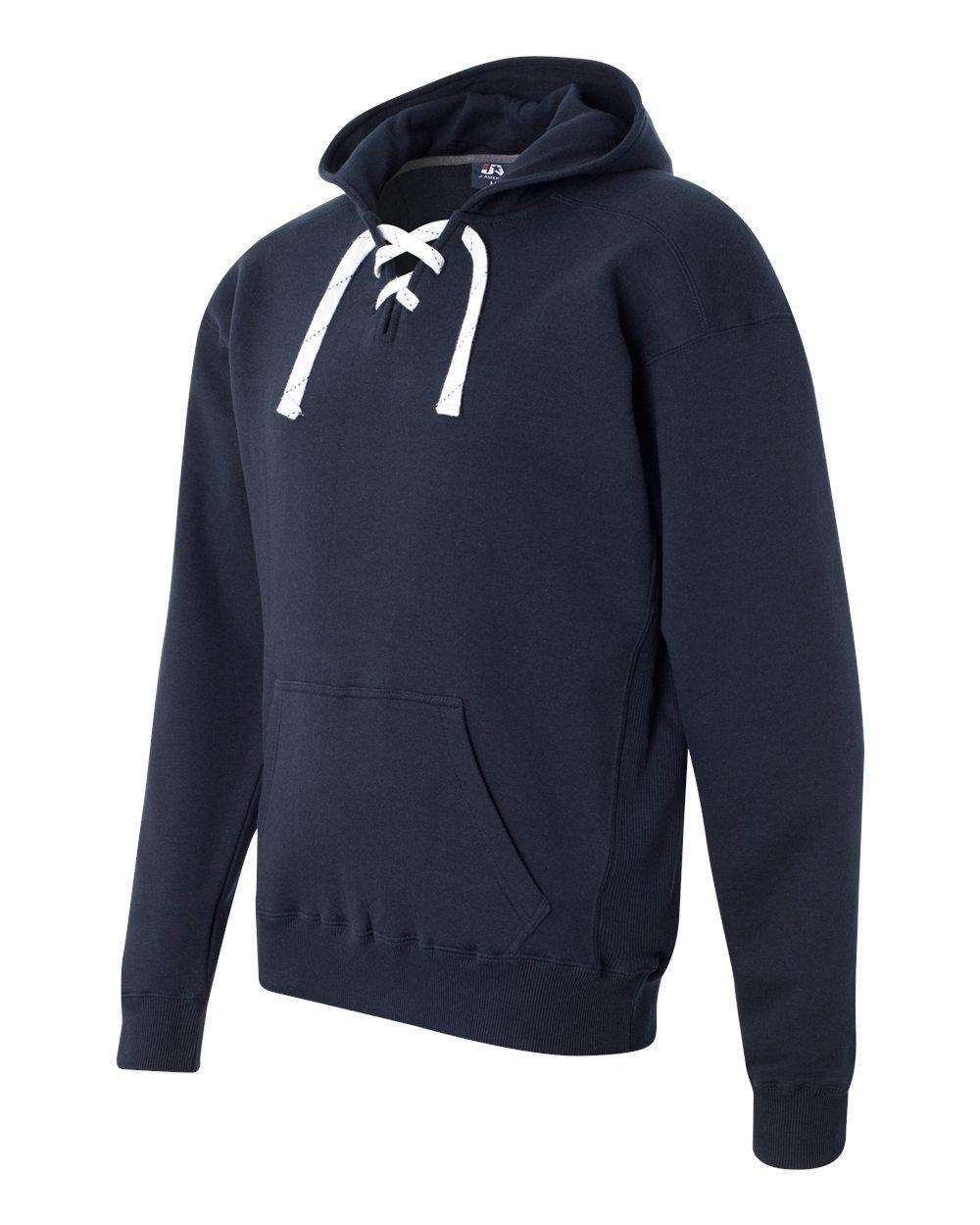Navy Hockey Hood Sweatshirt: 80% Ringspun Cotton, 20% Polyester Fleece Fabric.,Navy,3X-Large