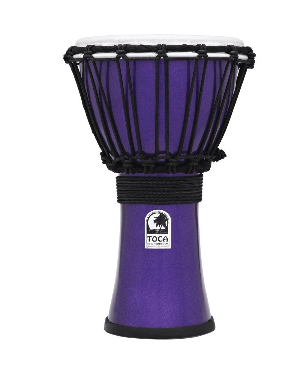 Toca TFCDJ-7MR Freestyle Colorsound 7-Inch Djembe - Metallic Red