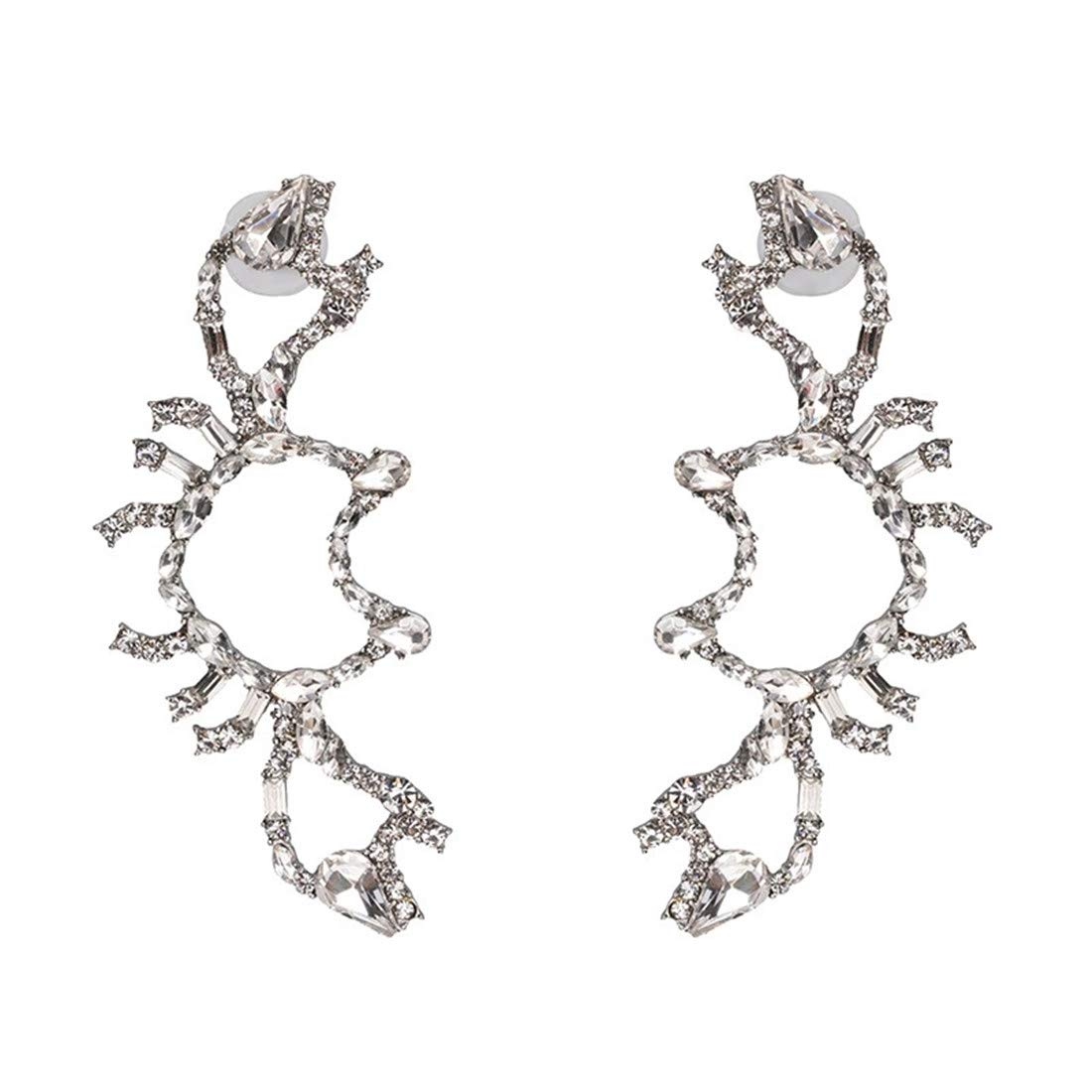 Colorful Crystal Crab Earrings Women's Jewelry for Ladies Women Girl Valentine's Day Gifts by Mrsrui