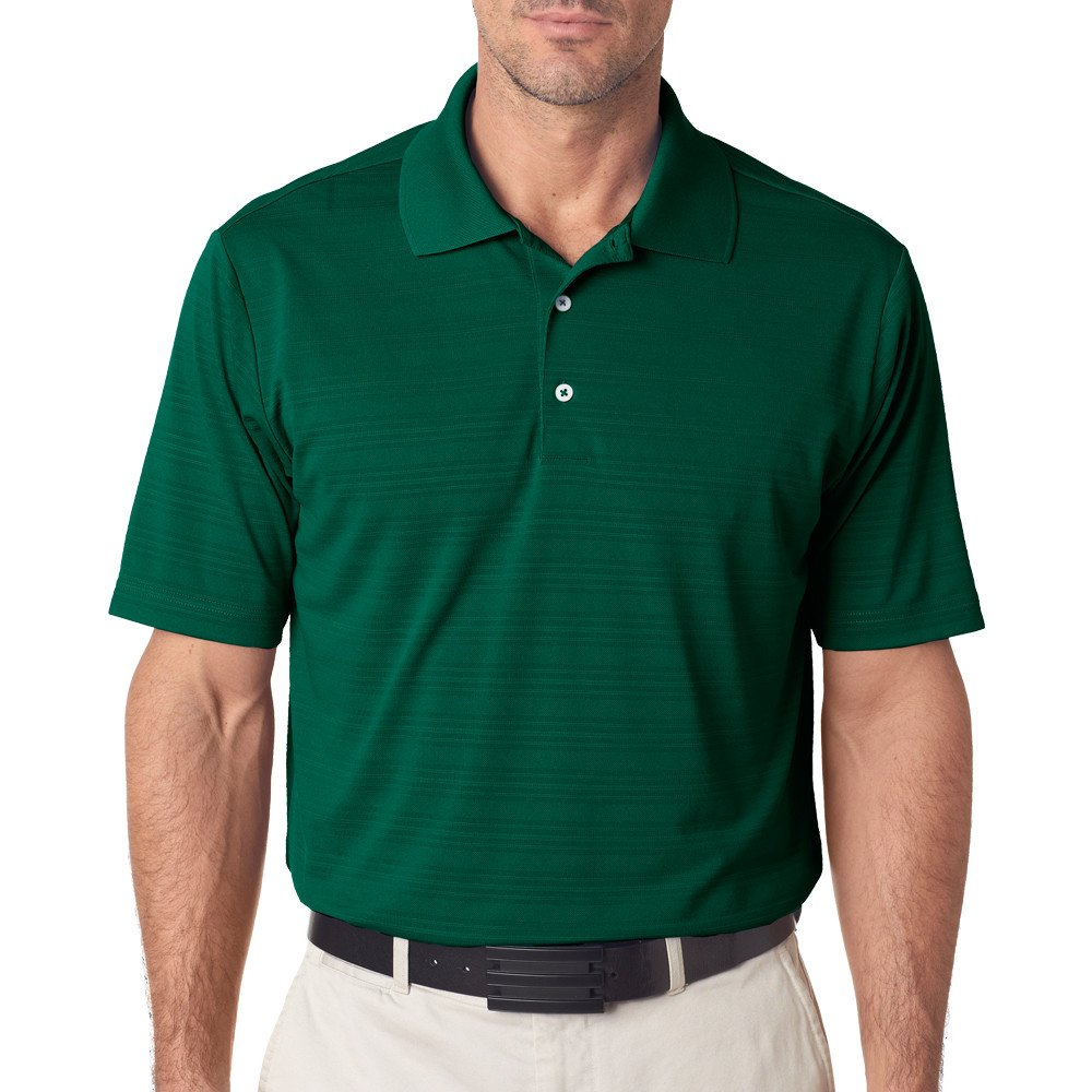 adidas Golf Mens Climalite Textured Short-Sleeve Polo (A161) -Forest -3XL