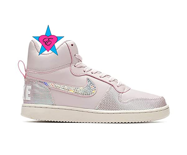 94ebfea6 Amazon.com: Custom Crystal Women's Nike Court Borough Mid SE High ...