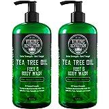 Antifungal Tea Tree Oil Body Wash Soap for Men - Helps Athlete's Foot, Toenail Fungus, Jock Itch, Eczema, Ringworm…