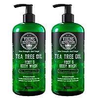 Antifungal Tea Tree Oil Body Wash Soap for Men - Helps Athlete's Foot, Toenail Fungus...