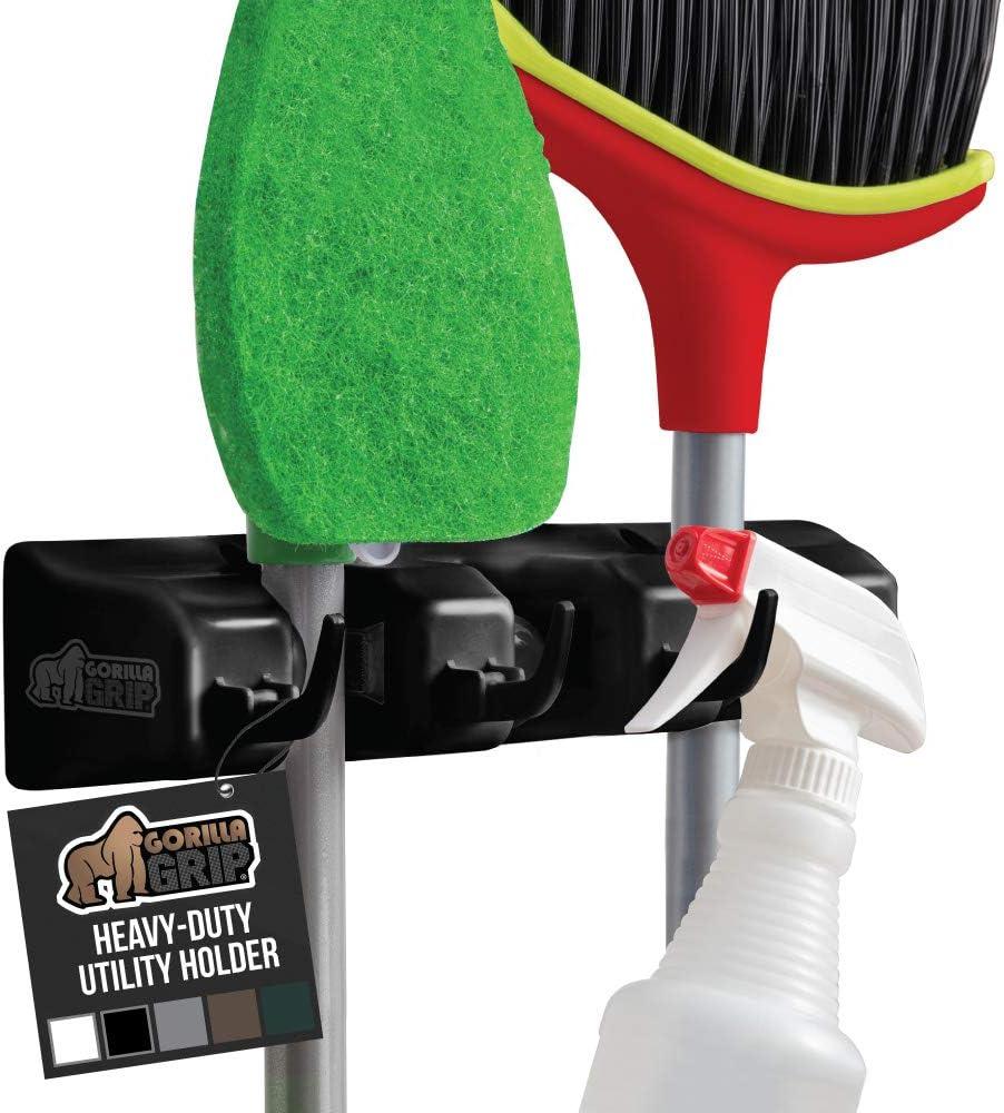 4pc Wall Mounted Broom Hanger Mop /& Broom Holder Broom Organizer Grip Clips Shed