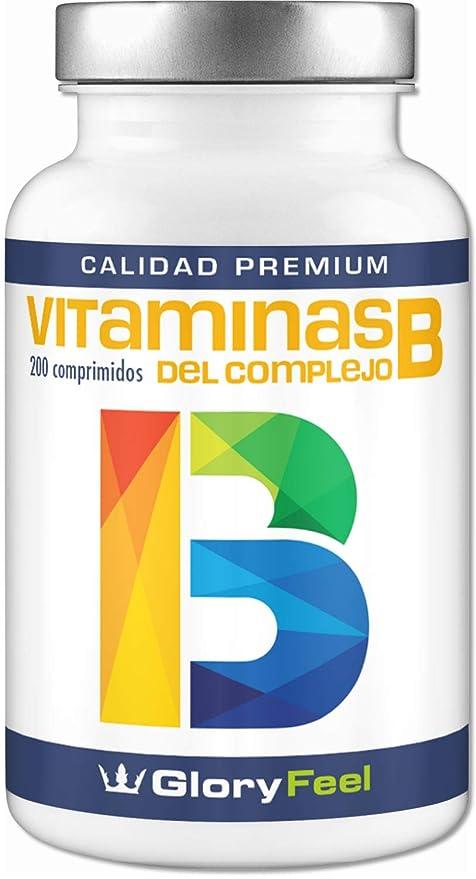 Vitamina B complex - 200 comprimidos de vitamina b - Complejo Vitamina B las 8 vitaminas