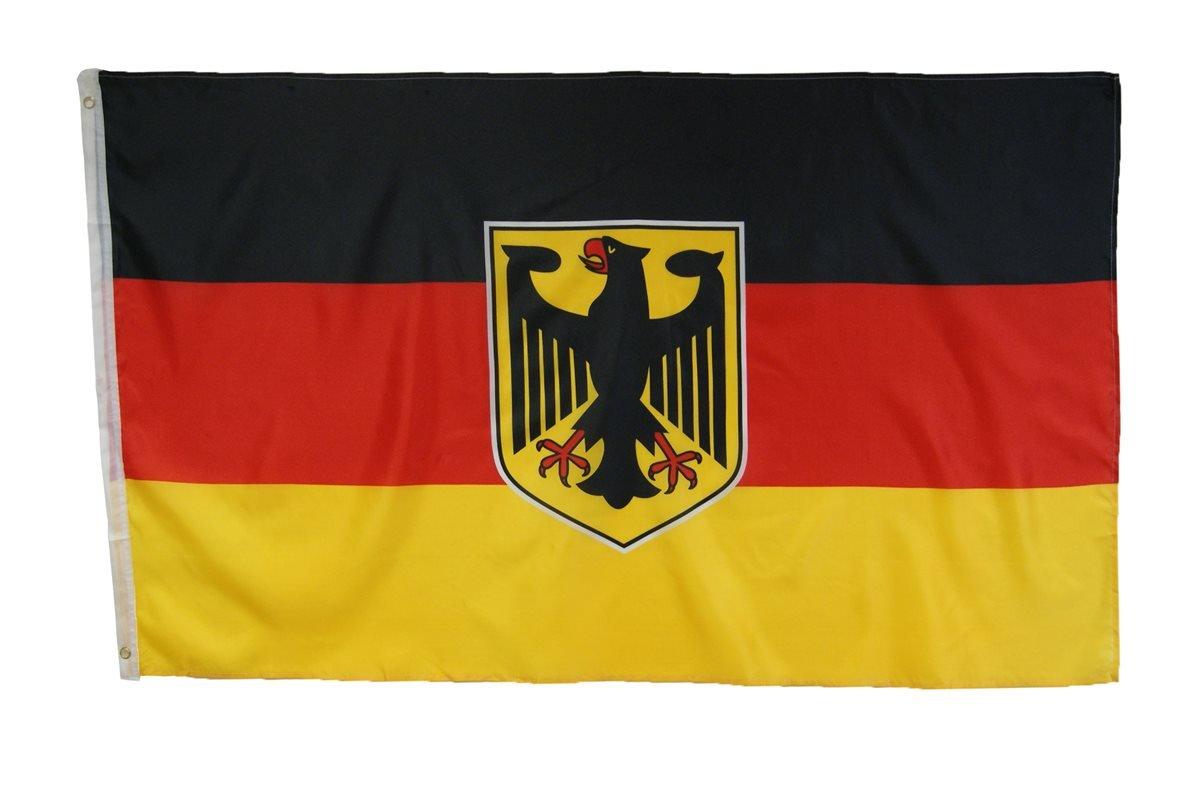 Abasonic 16122 - Bandera de Alemania, con águila, 90 x 150 cm