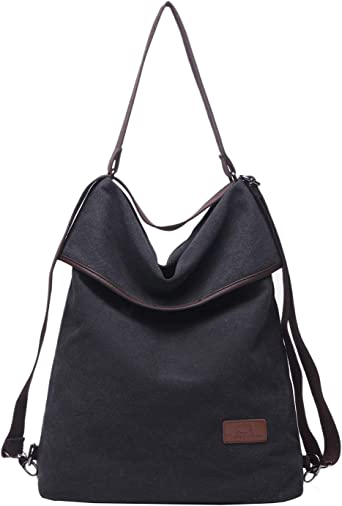 Women Multifunction Shoulder Bag Canvas Crossbody Casual Daypack Handbag for work and daily use