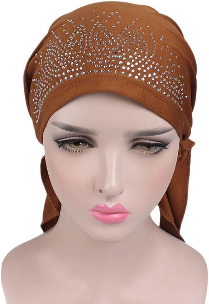 URSING Kopftuch Damen Modisches Bandana Hat Kopftuch sch/önes Sommer Beach Cap Kappe Frauen Indien Muslim Stretch Turban Hut Kopfbedeckung f/ür Chemo Krebs Haarverlust One Size