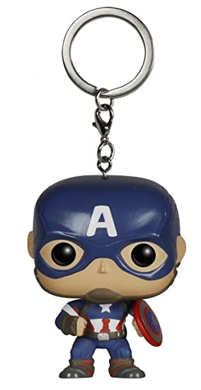 Funko Pop!- Pocket Keychain: Marvel: Avengers AOU: Captain America (5224)