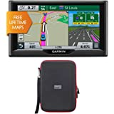 "Garmin nuvi 67LM 6"" 010-01399-01 Essential Series 2015 GPS System with Lifetime Maps PocketPro XL Hardshell Case Bundle"