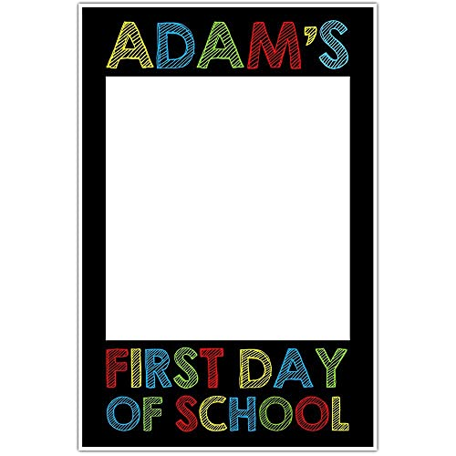 Amazoncom First Day Of School Crayon Selfie Frame Personalized
