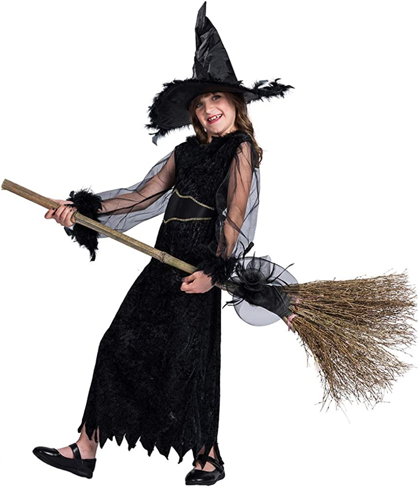 Amazon Com Witch Costume Kids Fancy Child Witch Costumes Girls Carnival Witch Party Cosplay Costume For Children Clothing