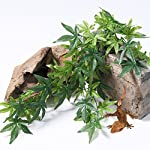 SLSON Reptile Plants Hanging Terrarium Plants Fake Reptiles Climbing Plant for Bearded Dragons,Lizards,Geckos,Snake Pets and Hermit Crab Tank Habitat Decorations,Large Size,20 inches 10
