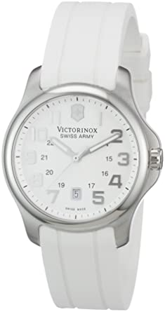 Victorinox Swiss Army Womens 241366 Officers White Dial Watch