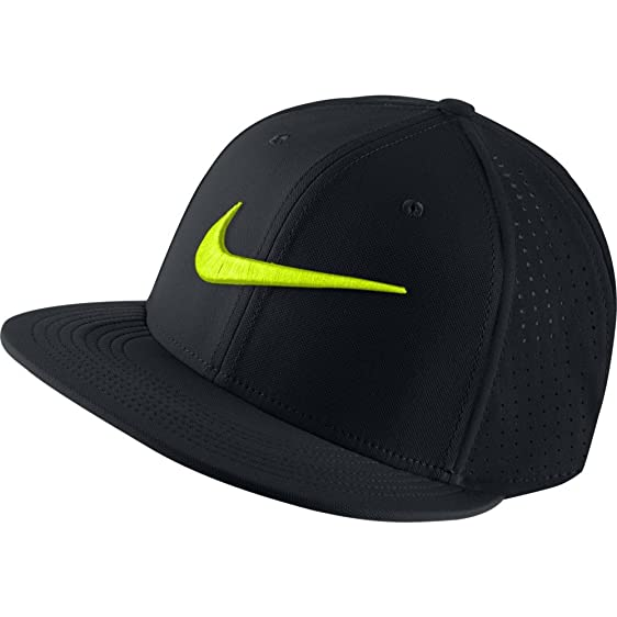 Nike Vapor True Adjustable Training Hat (Black/Volt)