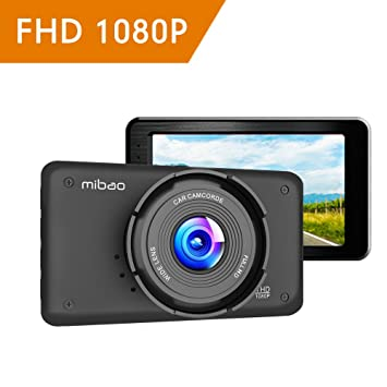 Mibao Cámara de Coche Dash CAM 1080P Full HD 170°Ángulo Cámara para Coche LCD