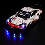 BRIKSMAX Led Lighting Kit for Technic Porsche 911 RSR - Compatible with Lego 42096 Building Blocks Model- Not Include The Leg