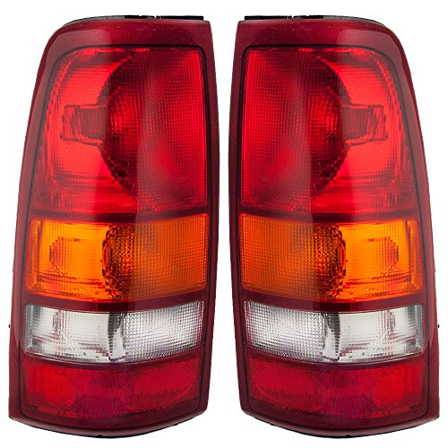 Driver and Passenger Taillights Tail Lamp Replacement for Chevrolet GMC Pickup Truck 19169017 19169018