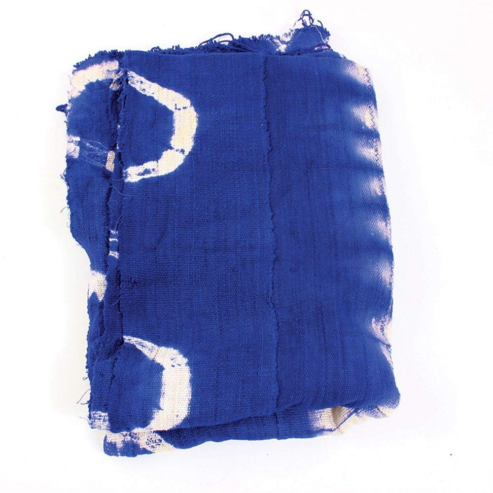 Mud African Cloth Colored Blue Tie Dye