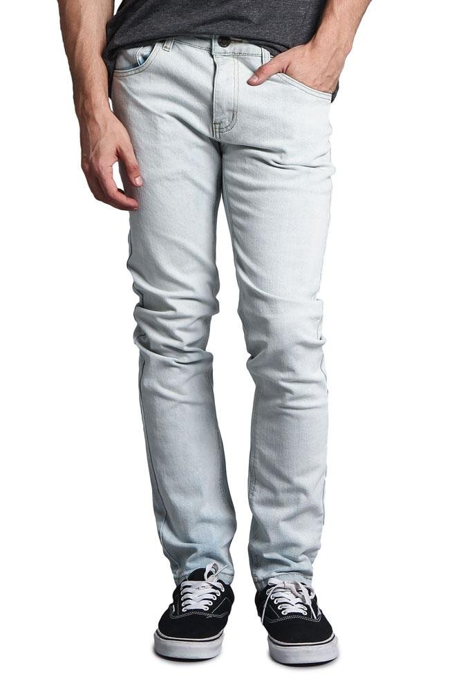 3856ed55 Galleon - Victorious G-Style USA Men's Premium Denim Skinny Fit Jeans  DL1004 - Bleach Blue - 40/32 - DNM
