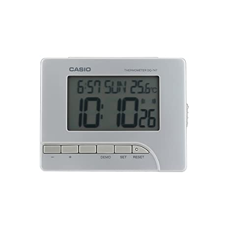 Casio Table Clock (DQ-747-8) Desk & Shelf Clocks at amazon
