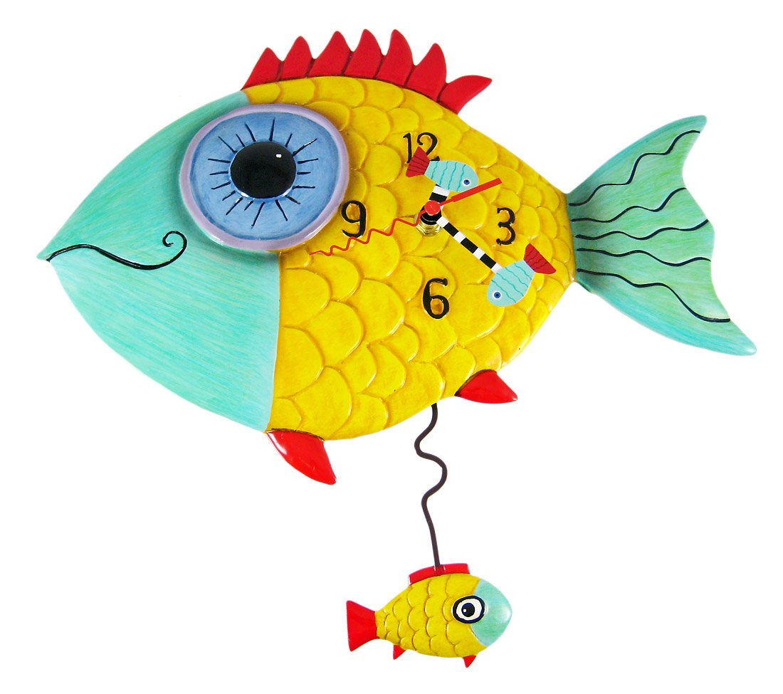 Fish wall clocks choice image home wall decoration ideas wall clock plans free images home wall decoration ideas pendulum wall clock plans ashton sutton petite amipublicfo Image collections