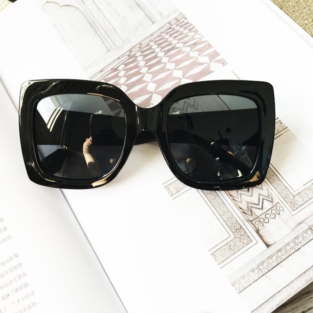 Women Oversized Retro Square Luxury Sunglasses TANGSen Gradient Lens Vintage Fashion Ladies Eyewear