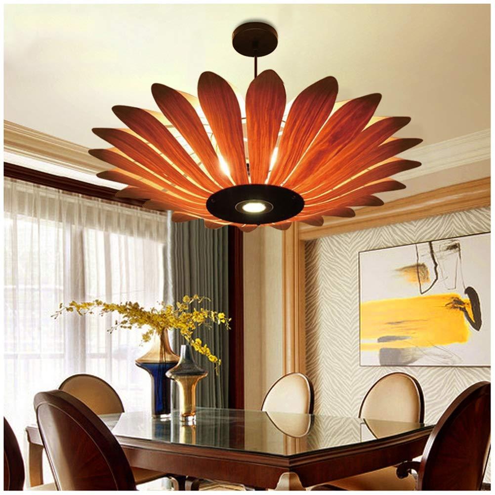 雪丽的家居 シンプルなペンダントライトモダンレストラン天井照明クリエイティブウッドシャンデリアリビングルーム寝室ショールーム装飾フィクスチャ   B07TNHGFXM