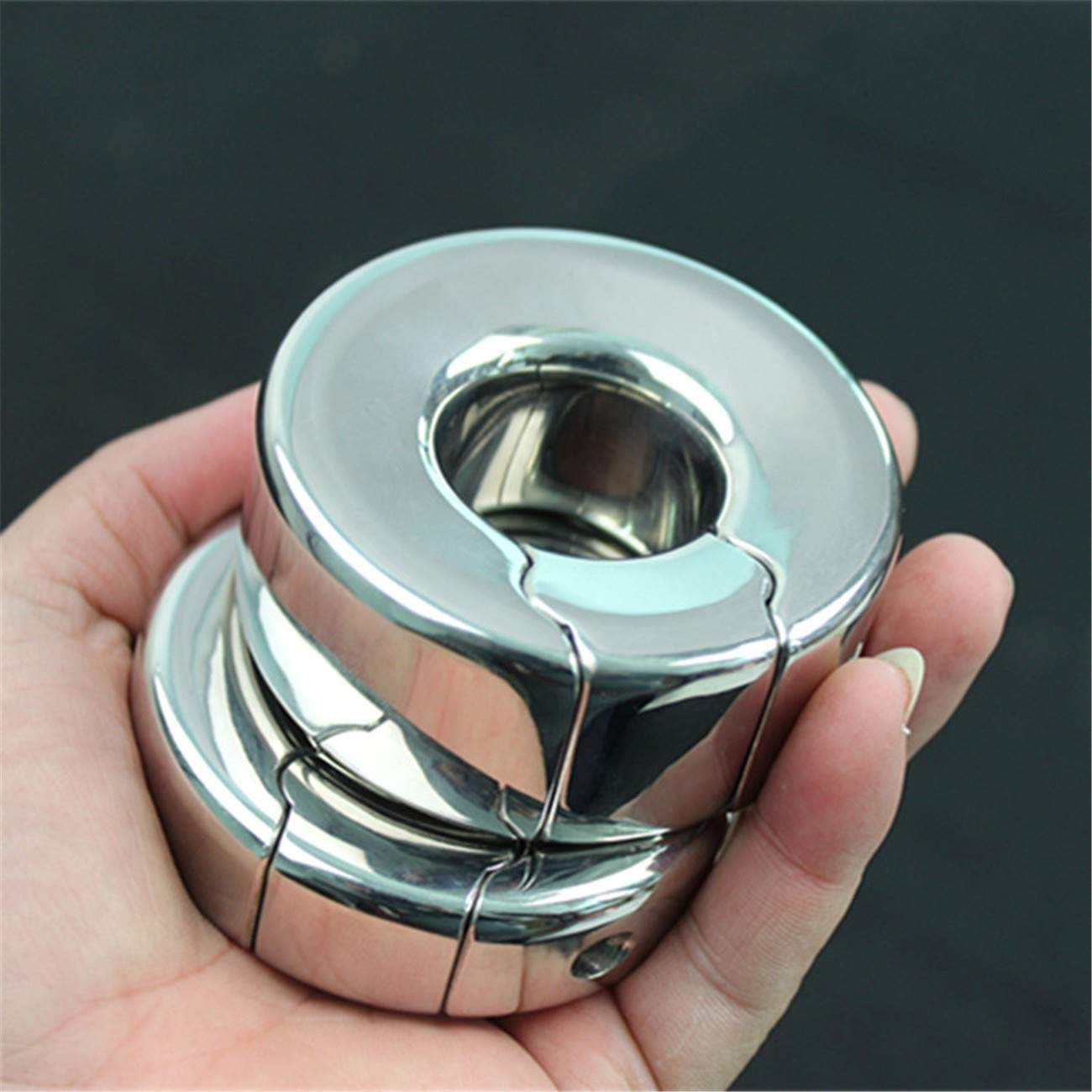 Heavy Loop Masturbation Cup Magnetic Scrotum Bondage Penis Pendant Ring for Men Metal Ball Stretcher Scrotum Vibrator Sex Toys for Woman Pendant Restraint Ring B2-47 M Vibrator Cilt by Carlos Foushee (Image #2)