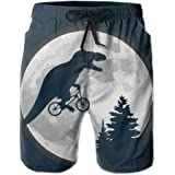0db5cc2bb0f50 LOVEHOME Mens Dinosaur Bicycle Moon Tree Funny Summer Breathable Swim Trunks  Beach Shorts Board Shorts