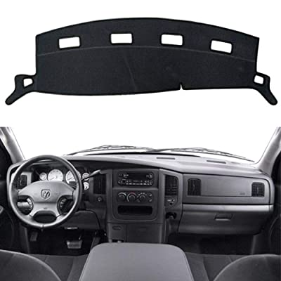 HanLanKa Black Carpet Dash Mat Compatible with 2002-2005 Dodge Ram 1500, 2003-2005 2500-3500,Custom Fit Dash Cover,Easy Installation Dashboard Cover: Automotive [5Bkhe2001272]