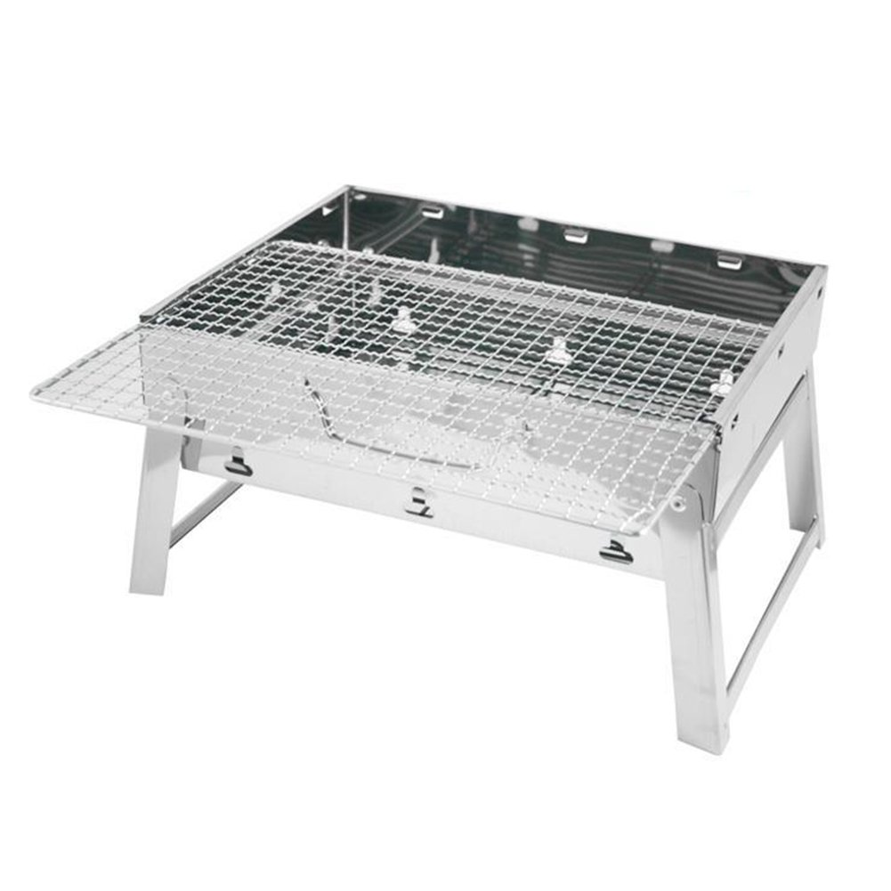 Portable Barbecue Grill, Stainless Steel Folding Charcoal Barbecue Stove for Outdoor Garden Camping Picnic
