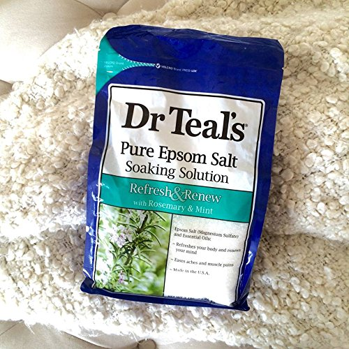 Dr. Teals Epsom Salt Soaking Solution Rosemary and Mint, 3 Pound