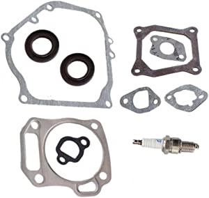 HURI Cylinder Head Exhaust Muffler Full Gaskets Crankcase Oil Seal for Mini Baja Bike Motorpsorts MB165 MB200 196cc 200cc Gx160 Gx200 5.5HP 6.5HP