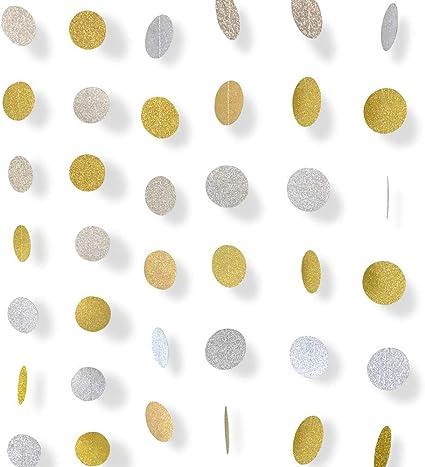Amazon.com: Guirnalda de papel con lunares circulares ...