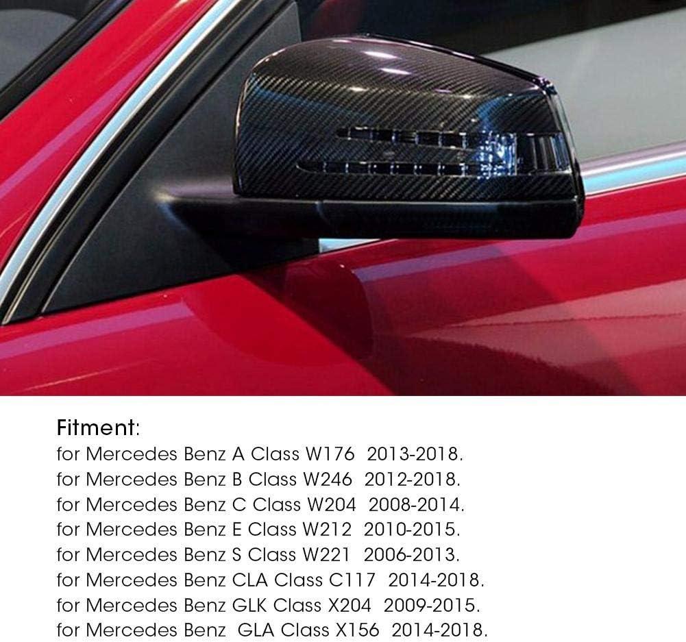 Coperchio dello specchietto retrovisore-Coperchio dello specchietto laterale in fibra di carbonio Specchietto retrovisore Coperchio compatibile con Mercedes Benz A B C E Classe GLA W204 W212