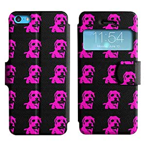 LEOCASE lindo perro Funda Carcasa Cuero Tapa Case Para Apple iPhone 5C No.1006489