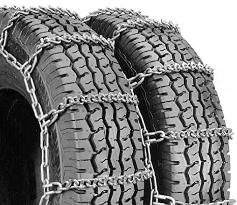 Security Chain Company QG4828 Quik Grip V-Bar Type DT Light Truck Dual and Triple Tire Traction Chain Set of 2