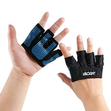 772d40c6e06394 CHIC-CHIC 1 Paar Fitness Handschuhe vier Fingern Männer Frauen Halbfinger  Top Grip für Gewichtheben