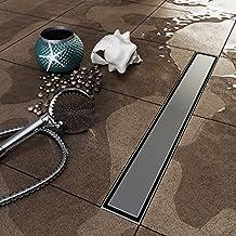 "Stainless Steel Gate Insert Wetroom Shower Channel Linear Shower Drain (90cm(35.4""))"