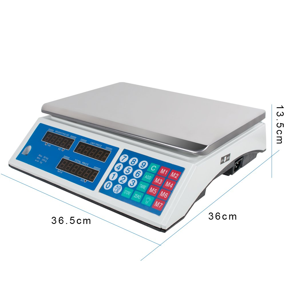 Digital Deli Meat Food Computing Retail Price Scale 66LBS Fruit Produce Counting