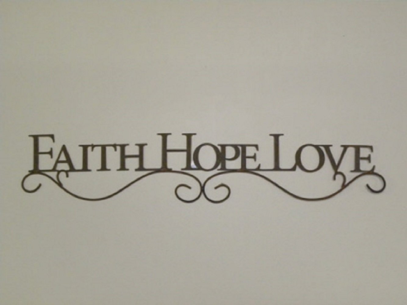 Your Heart's Delight FAITH HOPE LOVE Decorative Wall Plaque in Weathered Distressed Finish