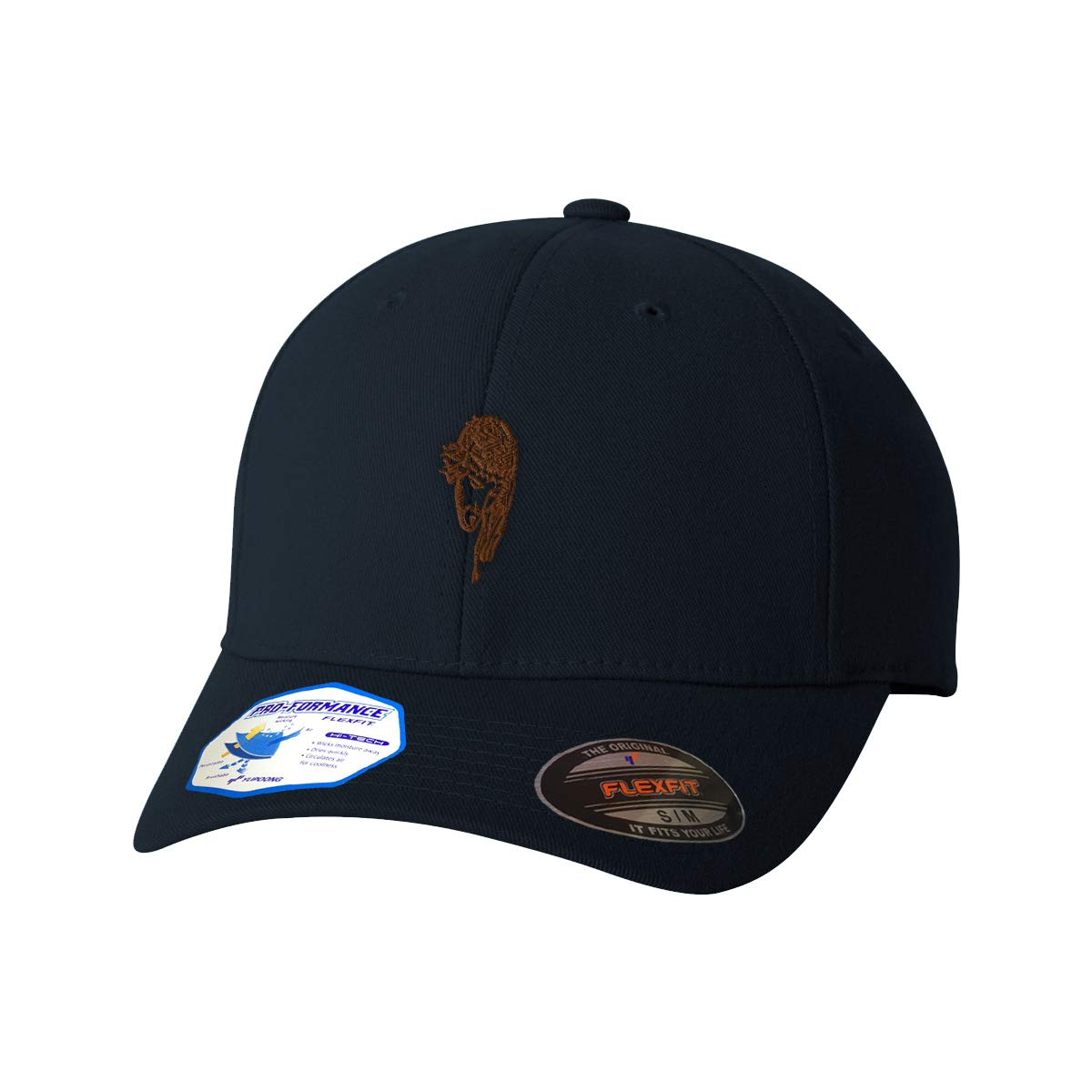 Custom Flexfit Hats for Men /& Women Brown Jesus Face on The Cross Embroidery